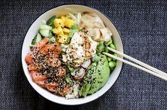 Sommarlunch med hemlagad poké bowl
