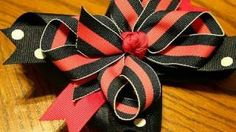 Inside Out hairbow tutorial (How to make the inside out bow), via YouTube.