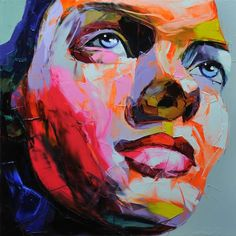 Neon-Rendered Portraiture  The Nielly Francoise 'Deja 2012' Series is Vibrant & Emotionally