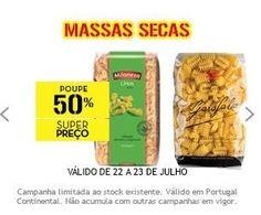 Promoção 50% desconto em massas secas [Continente] - http://parapoupar.com/promocao-50-desconto-em-massas-secas-continente/
