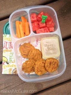 Chickpea Veggie Nuggets from our freezer stash today for lunch. They're meatless and delicious!