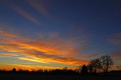 Sunrise over farms south of Lewistown, Frederick County. Photo by Kai Hagen Photography