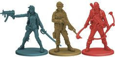 Zombicide: Season 3 Kickstarter Survivors from Season 3: Rue Morgue: Parker, Terry, Travis