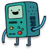 BMO (phonetically spelled Beemo) is Jake and Finn's living video console, portable electrical outlet, music player, roommate, camera, alarm clock, toaster, flashlight, strive light, friend, soccer player, skateboarder, video editor, video player and chef.