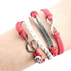 SusenstoneHandmade Skull Music Rope Multilayer Red Leather Weave Jewelry Bracelet.More info for rope anklets;one leg anklet;silver anklets online;bridal anklets online;fancy anklets online shopping could be found at the image url.(This is an Amazon affiliate link and I receive a commission for the sales)