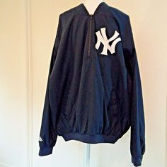 New York Yankees Windbreaker Majestic MLB Size XXL Blue and White Pullover | Sports Mem, Cards & Fan Shop, Fan Apparel & Souvenirs, Baseball-MLB | eBay!