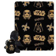 New Orleans Saints NFL Star Wars Darth Vader Hugger & Fleece Blanket Throw Set