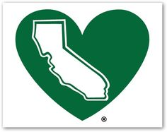 The California Green Heart Decal - pinned by pin4etsy.com
