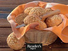 Haferflocken-Kräuter-Brötchen Readers Digest, Vegan, Stuffed Mushrooms, Vegetables, Oatmeal, Play Dough, Oven, Healthy Recipes, Bread