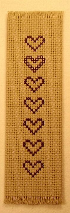 Cross Stitch Project - Create a Quick and Easy Cross Stitch Bookmark : Example of a Fringed-Edge Cross Stitch Bookmark Cross Stitch Bookmarks, Cross Stitch Books, Cross Stitch Patterns, Easy Cross, Simple Cross Stitch, Heart Bookmark, How To Make Bookmarks, Craft Club, Crafty Projects