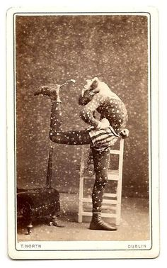 RARE CDV Photo Contortionist Feeding Himself | eBay
