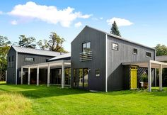 Metal Roof Image Gallery Contemporary Barn, Modern Barn, Modern Rustic, Residential Metal Roofing, Modern Roofing, Roof Styles, House Styles, Structural Insulated Panels, Building Contractors