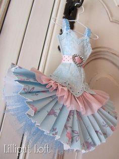 Little paper dress by Lilliput Loft
