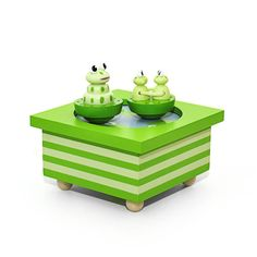 Trousselier Spinning Frogs Musical Box