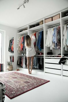 my changing room open Ikea Pax wardrobe. white dressing room my changing room open Ikea Pax wardrobe. Ikea Closet Organizer, Baby Closet Organization, Closet Storage, Baby Storage, Organization Ideas, Wardrobe Storage, Bedroom Storage, Clothing Organization, Clothing Racks