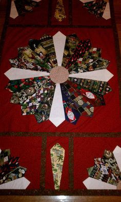Necktie Quilt Customized with your neckties.