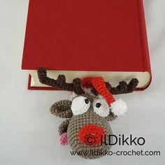 Rudolf das Rentier Lesezeichen - jetzt auch auf Deutsch :) Rudolf the Reindeer Bookmark - now also available in German :). Schöne Zeit beim Häkeln! http://ildikko-crochet.com/patterns/rudolf-the-reindeer-bookmark-crochet-pattern/