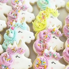 Unicorn cookies extraordinaire from the talented with the perfect dose of our Fancy Cookies, Iced Cookies, Cute Cookies, Sugar Cookies, Biscuit Cookies, Sugar Cookie Frosting, Royal Icing Cookies, Unicorn Sprinkles, Marshmallow