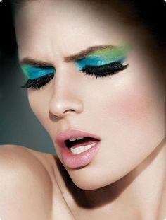 colorful♥ makeup, exxomakeup, blue eyes, models, modeling, faces, beauty