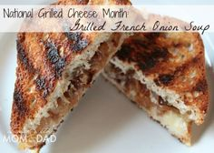 National Grilled Cheese Month: Gluten Free Grilled French Onion Soup