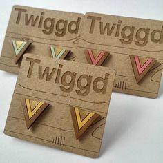 Gold Triangle Geometric Stud Earrings