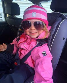 Cute little girl in great pink jacket!  Ready for adventures!  Photo from @ jonassensen Instagram
