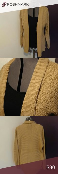 PLUS SIZE TAN DRAPING CARDIGAN Has only been worn twice. Excellent condition! Tan sweater that is the perfect neutral addition to any closet! Smoke free, pet free home. Verve Ami Sweaters