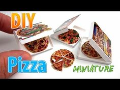 DIY Miniature Pizza with box ● No Polymer Clay! ● No need for paint! - YouTube