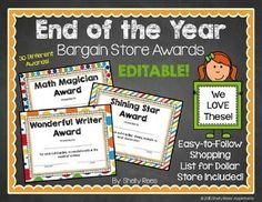 free printable end of year awards for students  funny end of the year awards for students | Funny end of the year ...