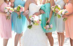 colorful pastel wedding