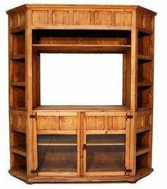 Rustic Corner Television TV Stand BookCase, Flat Screen, Solid Wood, Free  Ship