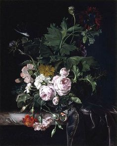 AELST, Willem van [Dutch Baroque Era Painter, 1627-ca.1683] Flower Still-Life1677