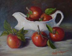 Pommes rouges et blancs la saucière par OilPaintingsByCheri sur Etsy