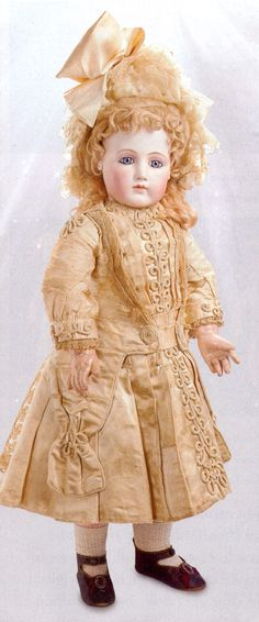 Portrait antique French Jumeau Bebe doll from a recent Theriault's doll advertisement