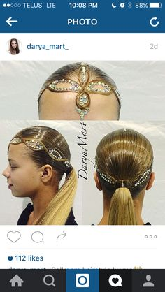 Amazing dancesport hair