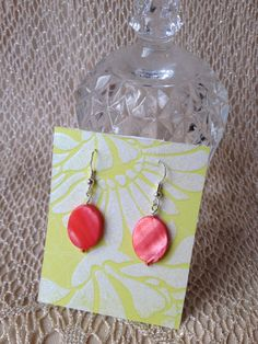 Coral shell earrings by BillettesBaubles on Etsy, $7.00