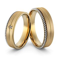 Piękne obrączki ślubne z warkoczem i serduszkiem. Obrączka przyozdobiona delikatnym brylantem Couples Ring Tattoos, Couple Ring Design, Couple Rings, Bangles, Bracelets, Best Couple, Promise Rings, Ring Designs, Body Art
