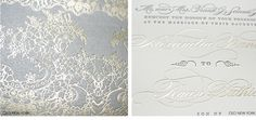 Gold and silver wedding invitation suite by Ceci New York.