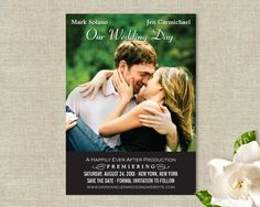Movie Poster Wedding Save the Date Cards. $25.00, via Etsy.