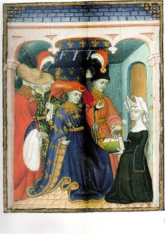 Louis of Orleans receiving a book from Catherine de Pisan c. 1415 by medievalarchive, via Flickr