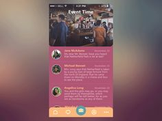Hello guys! Here's one of my latest works - a concept of an event app to spend the best holiday moments together with your friends. What do you think about it? Have a nice day everyone! ;) Behance...