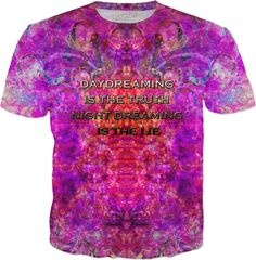 DAYDREAMING IS THE TRUTH NIGHT DREAMING IS THE LIE T-Shirt by Face Glue https://shop.ragejunkie.com/collections/t-shirts/products/daydreaming-is-the-truth-night-dreaming-is-the-lie-t-shirt-by-face-glue?variant=41006542028