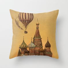 Moving to Moscow   Throw Pillow by Terry Fan - $20.00