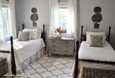 My Parent's Guest Room (New Rug!) by Dear Lillie. Rugs USA Satara Edison Nickel Rug