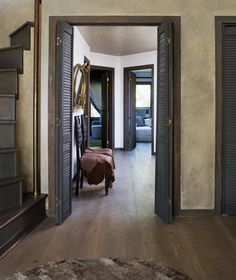 Rustic Country Staircase // Photographer Virginia Macdonald // House & Home
