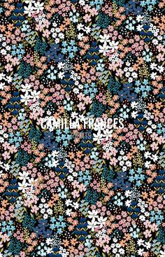 Camilla Frances Prints Textile Prints, Textile Patterns, Textiles, Floral Patterns, Textile Design, Fabric Design, Motif Floral, Ditsy Floral, Graphic Patterns