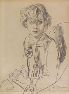 """huariqueje: """"  Speedy - Rudolf Schlichter, c. 1935 German, 1890-1955 Pencil drawing. 63.2 x 47.9 cm (24.8 x 18.8 in), """""""
