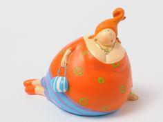 Fat Lady Ada, couché Orange
