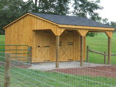 10 x 16 Shed Row Horse Barn / Service Door | Penn Dutch Structures