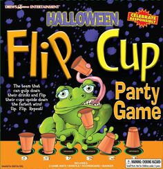 Halloween Adult Drinking Party Flip Cup Game by Drew's Famous Entertainment  #TutmEntertainment #Halloween